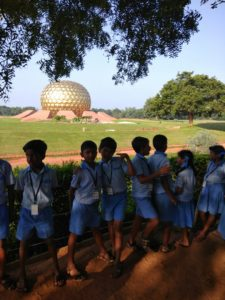 students at Auroville